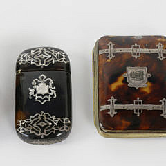 10-4877 Group of 3 Assorted Tortoiseshell and Sterling Boxes with Jeweler's Loop A_MG_3137