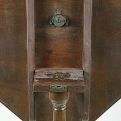 19th c. Federal Mahogany Tilt Top Candle Stand
