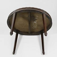 19th Century Mahogany Inlaid Tray Top Coffee Table