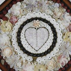 "Sandi Blanda Sailor's Valentine, ""Pare Heart"", circa 1998"