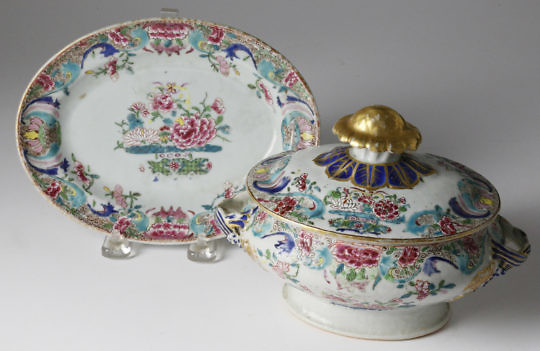 14-4878 Chinese Export Tureen,Cover, Under Plate A_MG_2356