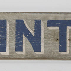 Wooden Hand Painted Brant Point Arrow Sign