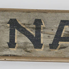 Hand Painted Nantucket Quarterboard on Old Board