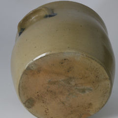 "Salt Glazed Pot Stamped, ""K.S. Fox Athens"""