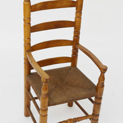 1535-54 Cherry and Oak Child's Ladder Back Arm Chair A_MG_2432