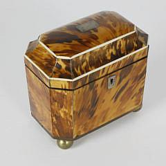 2-4877 Tortoiseshell Double Compartment Tea Caddy A_MG_3057