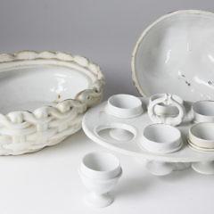 19th Century French Porcelain Duck Egg Coddler