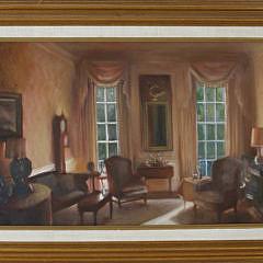 "226-4800 Paul Longnecker Oil on Canvas, ""6 Louisburg Square"" A_MG_2482"