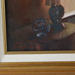 "Paul Longnecker Oil on Canvas, ""Interior of 6 Louisburg Square"""