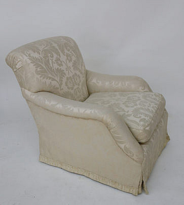 25-4890 White Damask Upholstered Armchair A_MG_3010