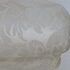 White Damask Upholstered Armchair