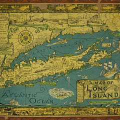 27-4810 1930's Cortland Smith Pictoral Informational Map of Long Island A_MG_2525