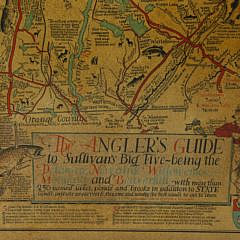"""Cayton B. Seagers 1935 Map, """"The Angler's Guide to Sullivan's Big Five"""""""