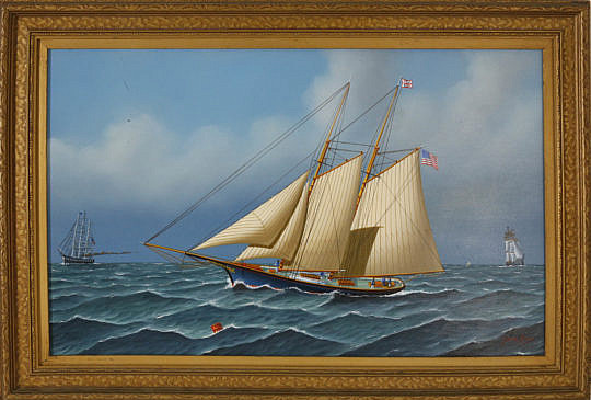 358-3771 Jerome Howes Oil Two Masted Schooner A_MG_2520