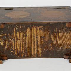 English Regency Tiger Maple Inlaid Triple Compartment Tea Caddy, 19th c.
