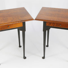 374-3771 Pair of Eldred Wheeler One Drawer Tables A_MG_2293