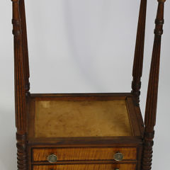 American Federal Mahogany Two Drawer Night Stand