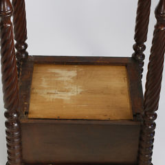 19th Century Mahogany Sheraton Two Drawer Work Stand