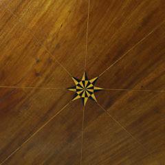 19th c. Nantucket Made Inlaid Mahogany Tilt Top Table