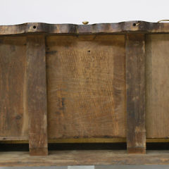 18th/19th c. Bench Made Queen Anne Tiger Maple Lowboy
