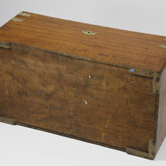 19th c. Chinese Export Brass Bound Camphorwood Trunk