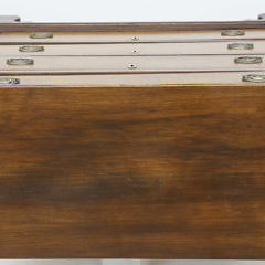 19th c. Mahogany Chest of Drawers with Tiger Maple Drawer Fronts