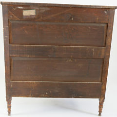 American Tiger Maple Sheraton Chest of Drawers, circa 1840