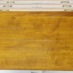 Eldred Wheeler Five Drawer Tiger Maple Tall Chest of Drawers