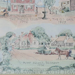 "1959 Ruth Haviland Sutton, ""A Group of Historic Items"", Lithograph"
