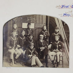 """1894 Sepia Tone Photographs of, """"First Trinity 1st Boat"""", Crew Team"""