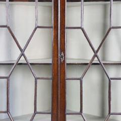 George III Mahogany Corner Display Cabinet, late 18th century