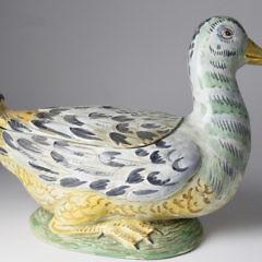 Hand Painted Italian Ceramic Duck Tureen