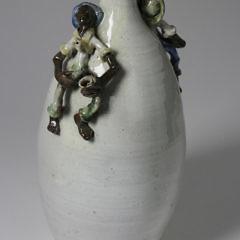 Southern Folk Pottery Figural Glazed Jug