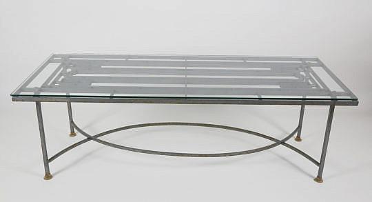 52-2574 Wrought Iron Geometric Coffee Table A_MG_3108