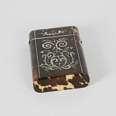 Early 19th c. Regency Tortoiseshell Card Holder