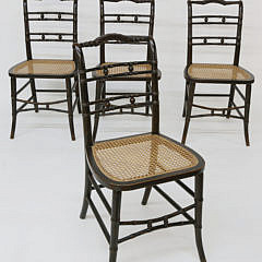 7-4890 Four Faux Bamboo Chairs A_MG_2896