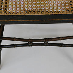 Four 19th c. English Regency Grain Decorated Faux Bamboo Chairs