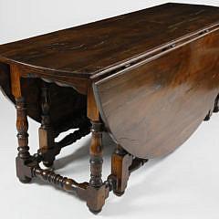 8-4890 English Yew Wood Gateleg Table A_MG_2989