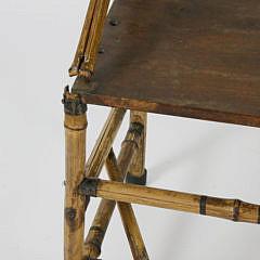 19th c. English Photographer's Bamboo Bench