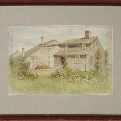 """95-246 Jane Brewster Reid Watercolor """"New Dollar Lane Garden, East"""" A_MG_2684"""