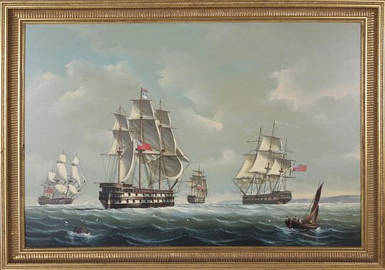 389-3771 Salvatore Colacicco Oil British Man-o-War Fleet in the open seas A_MG_2634