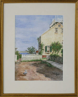 """63-246 Jane Brewster Reid Watercolor """"The Guardian, Cash's Court"""" A_MG_2540"""