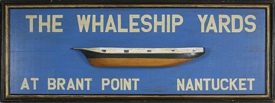 """1-4886 Large Wooden Sign """"The Whaleship Yards At Brant Point"""" A_MG_2643"""