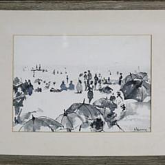 "1-4893 Andrew Shunney watercolor ""Beach Scene"" A_MG_3281"