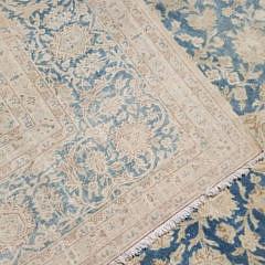 Vintage Washed Persian Kashan Carpet