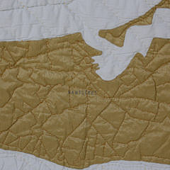 Contemporary Nantucket Map Quilted Coverlet