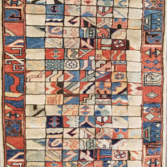 Hand Woven Geometric Oriental Carpet Runner