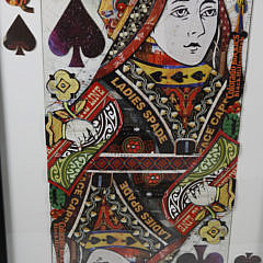 Set of Three Paper Die Cut Shadow Box Playing Card Pictures