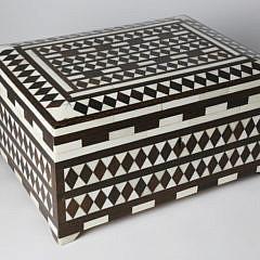 Camel Bone and Wood Inlaid Storage Box