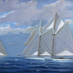 """William Lowe Oil on Linen """"Perfect Sailing Day – Nantucket"""""""